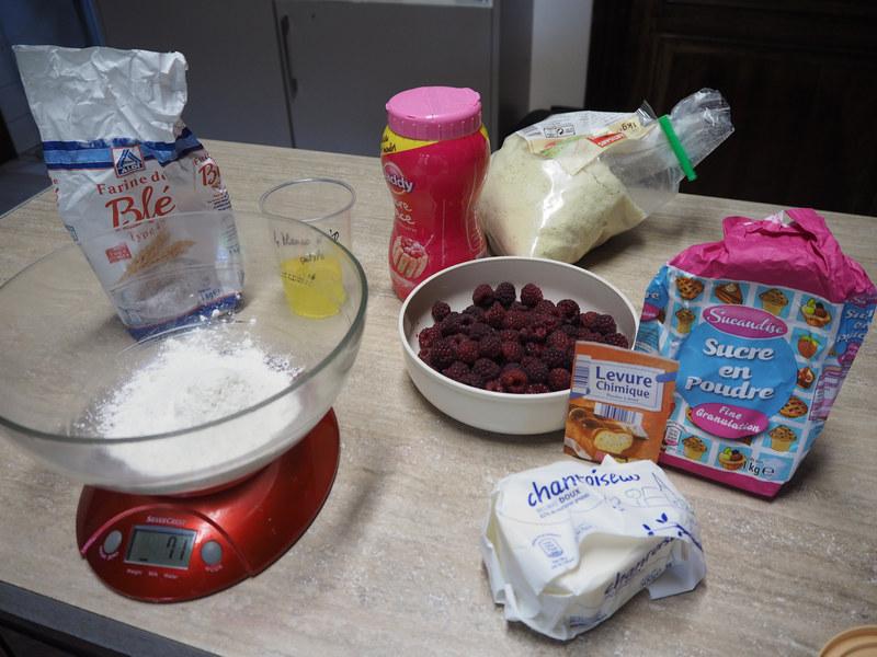 ingrédients gâteau aux framboises de Thiérache Le Bocage Aisne entre La Capelle et Vervins 02 Picardie