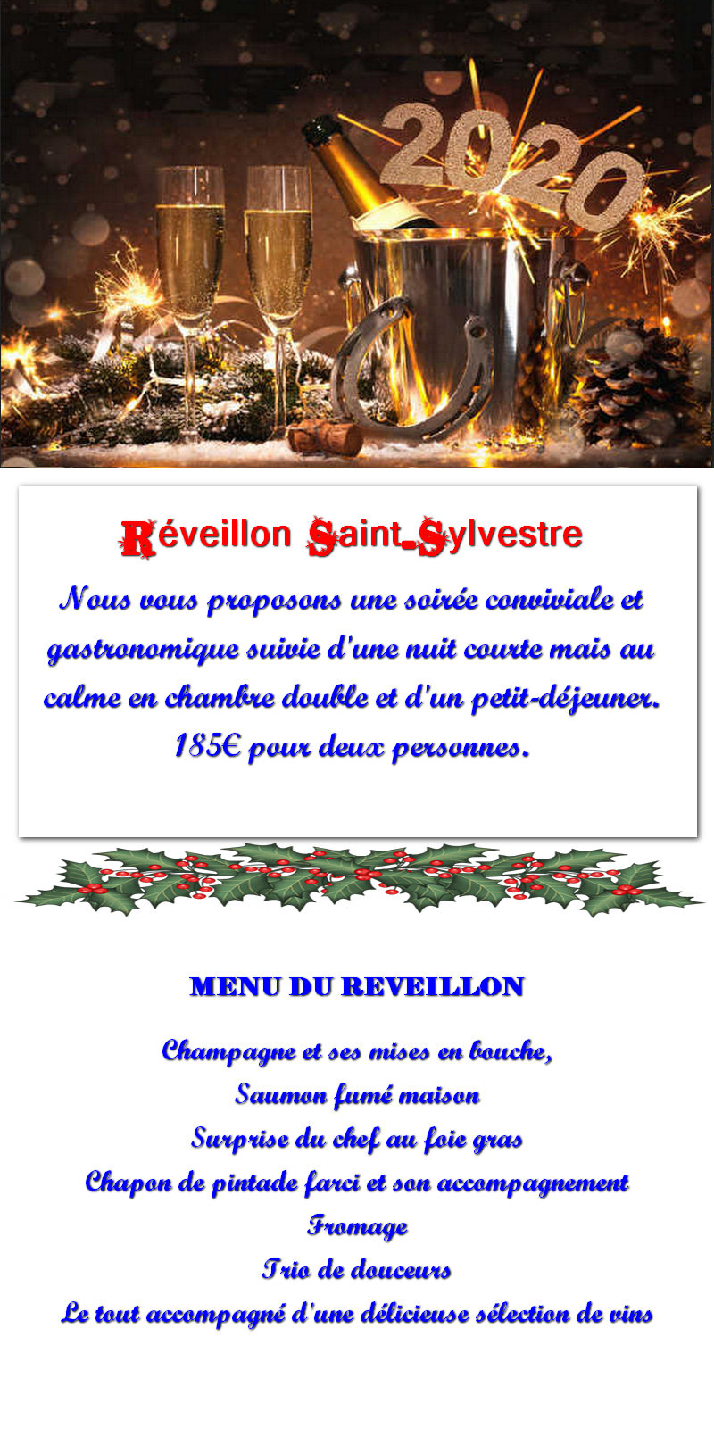 réveillon en chambres d'hôtes sorbais Aisne 02 La Capelle Vervins, Guise, Saint Michel en Thiérache Picardie  et chevaux