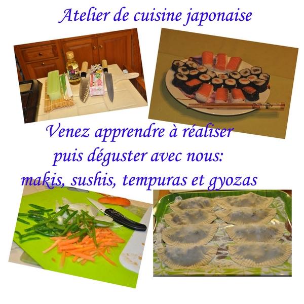cuisine japonaise en chambre d'hôte thiérache aisne