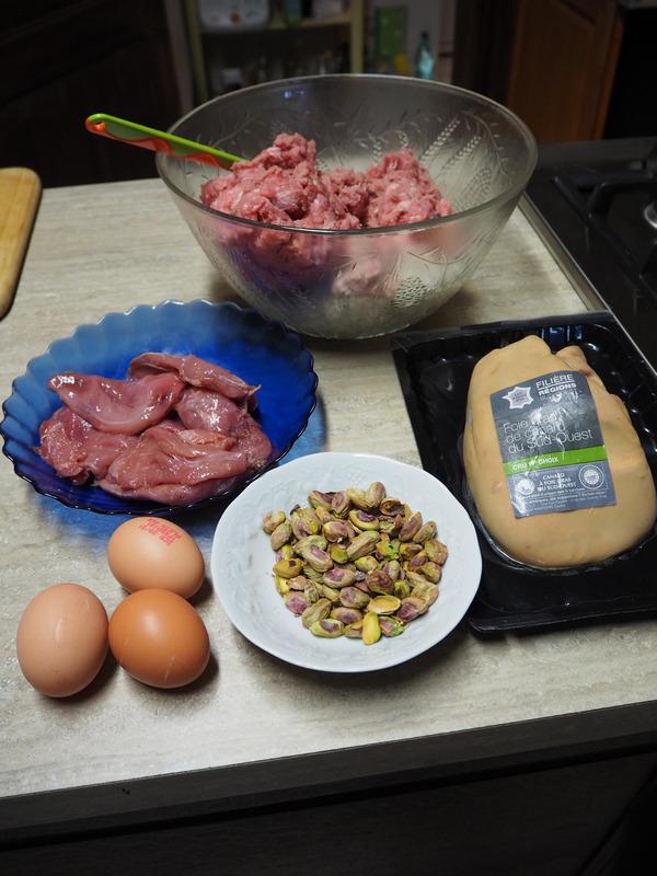ingrédients galantine de faisan aux pistaches de Thiérache Le Bocage Aisne entre La Capelle et Vervins 02 Picardie