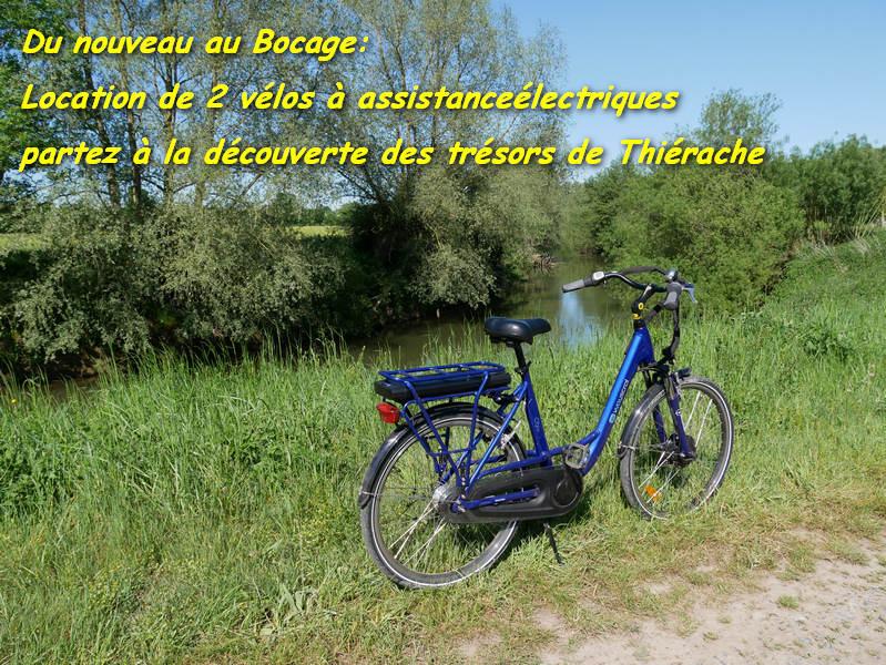 location de vélos électriques Le Bocage sorbais Aisne 02 La Capelle Vervins, Guise, Saint Michel en Thiérache Picardie
