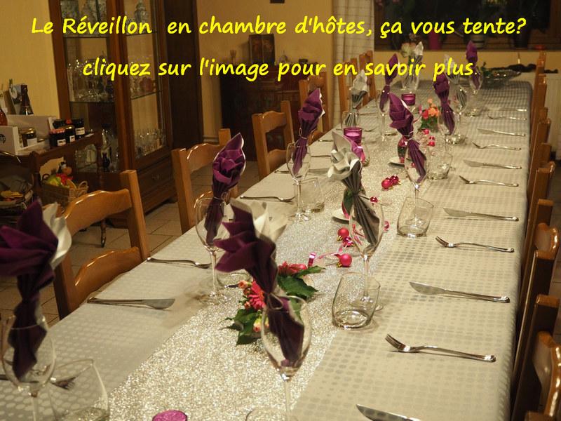 réveillon en chambre d'hôtes Le Bocage sorbais Aisne 02 La Capelle Vervins, Guise, Saint Michel en Thiérache Picardie