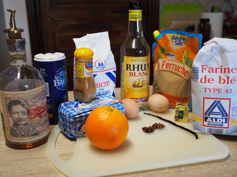 ingrédients baba au rhum chambres d'hôtes Le Bocage Aisne Picardie entre La Capelle et Vervins 02