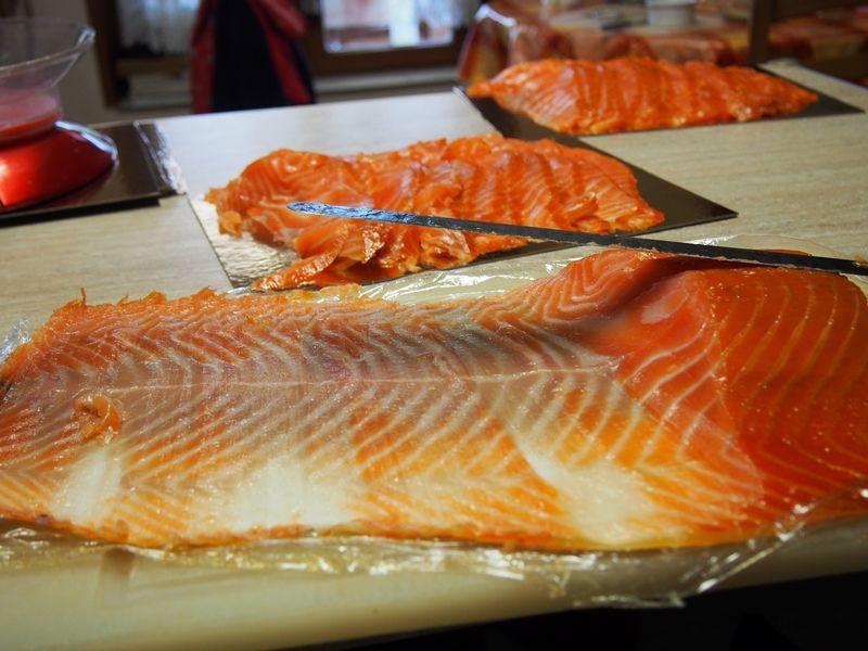 saumon fumé de thiérache chambres et table d'hôtes Le Bocage Aisne entre La Capelle et Vervins Picardie 02