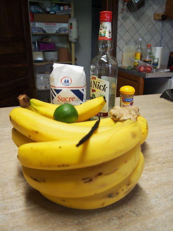 Confiture de banane au rhum chambres et table d'hôtes Le Bocage Aisne entre La Capelle et Vervins Picardie 02