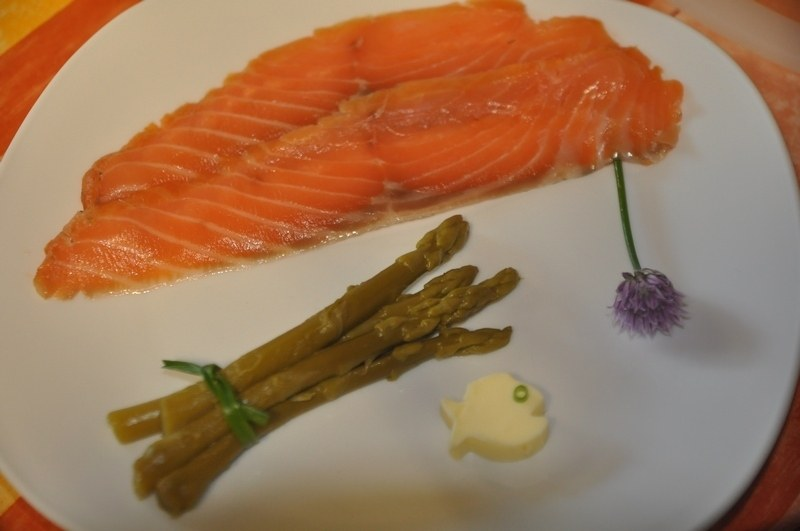 saumon fumé maison table d hote le bocage aisne La Capelle Vervins